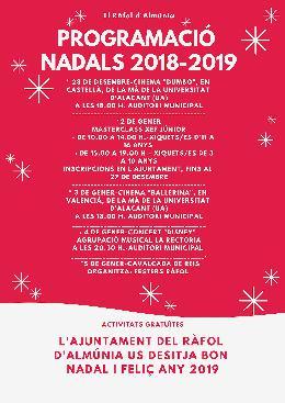 PROGRAMACIÓ NADALS 2018-2019